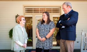 Photo of Hunt with Foundation staff.