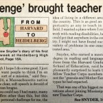 The Clarion Ledger article describes Andrew Snyder's motivation to teach in Mississippi after graduating from Harvard.